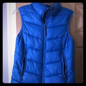 H & M puffer vest size 6 (blue)